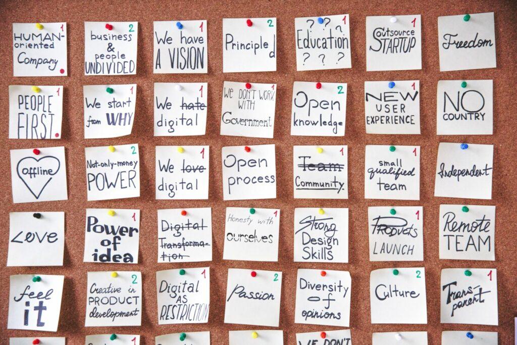 Ideen-Wand